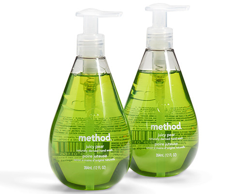 Method Natural Hand Wash, 2 X 12oz Bottles, Juicy Pear Scent, 24oz