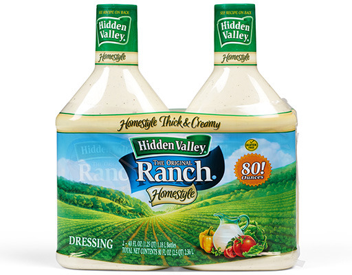 Hidden Valley Ranch, 2 X 40oz Bottles, Original, 80oz