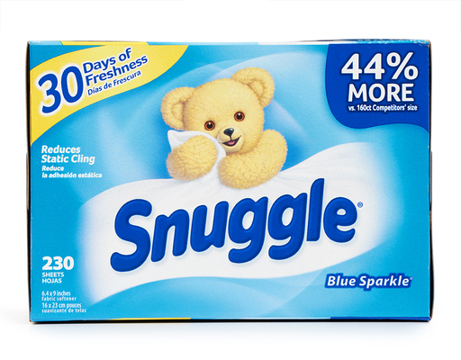 230 Ct. Fabric Softener Dryer Sheets. Blue Sparkle