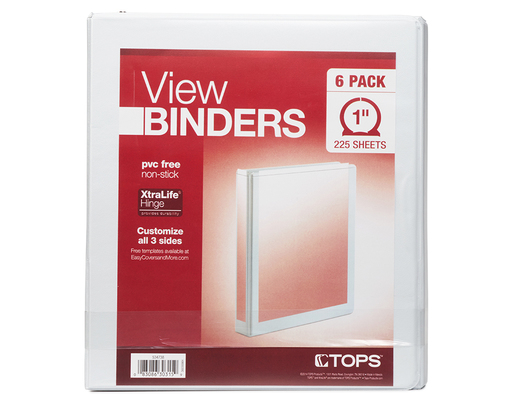 Tops View Binders, 6ct