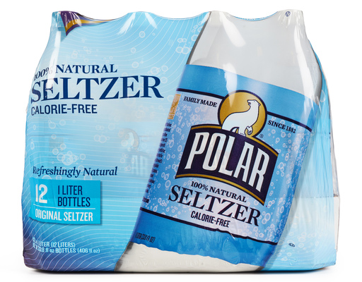Polar 100% Natural Seltzer, 12 X 1 Liter Bottles, Original