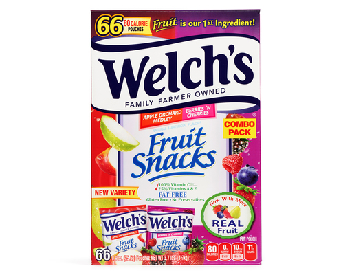 Welchs Fruit Snacks, 66 X 0.9oz Pouches