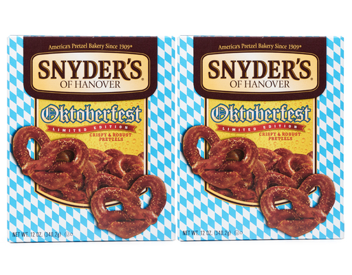 Snyders Oktoberfest Pretzels, 2 X 12oz Boxes, Ltd Edition, 24oz
