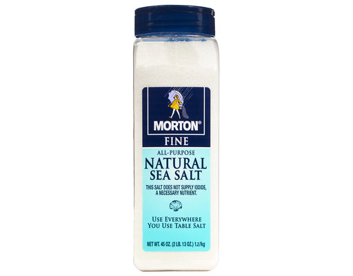 Morton All-purpose Natural Sea Salt, 45oz