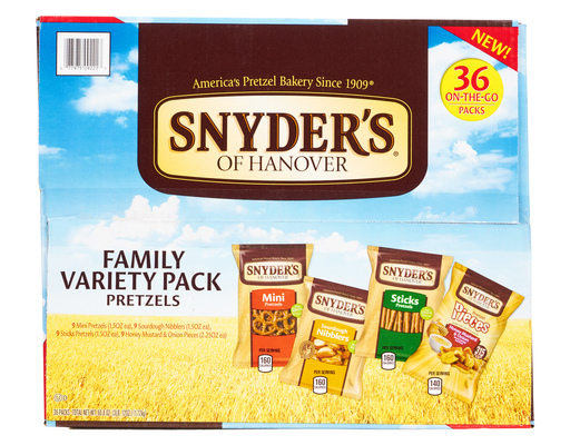 Snyders Of Hanover Pretzels, 36 Count Variety Pack