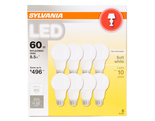 60w Led Light Bulbs, 8ct