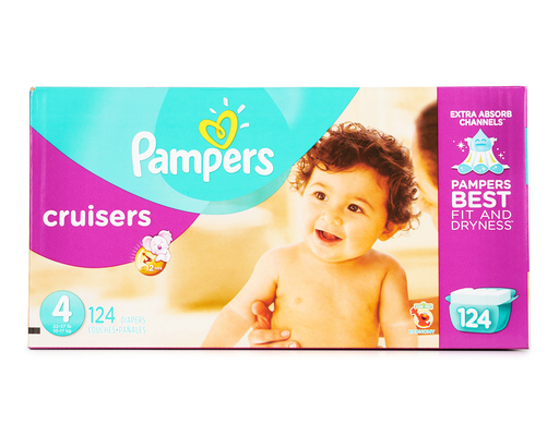 Pampers Cruisers, Size 4, 124ct