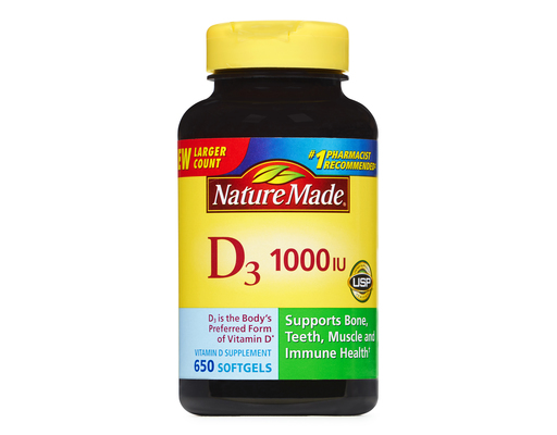 Nature Made Vitamin D, 650ct