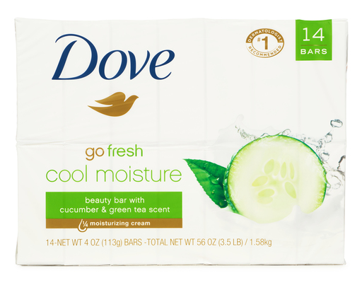 Cool Moisture Beauty Bar, 14ct