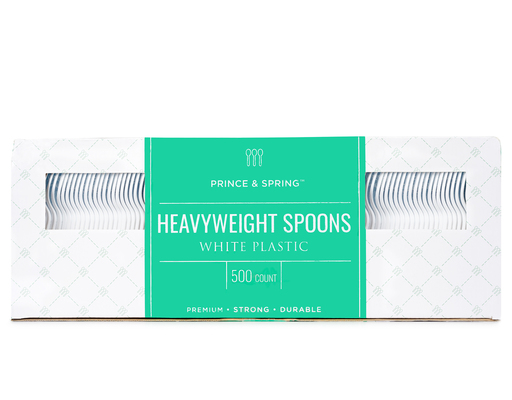 Heavyweight Spoons, 500ct By Prince & Spring