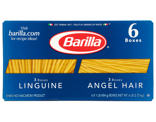 Barilla Linguine & Angel Hair, 6ct