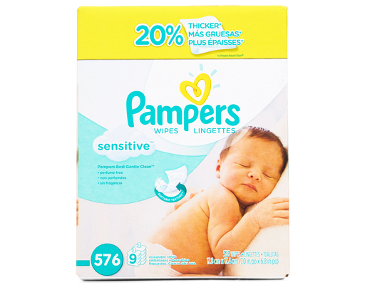 Pampers Sensitive Wipes, 576ct