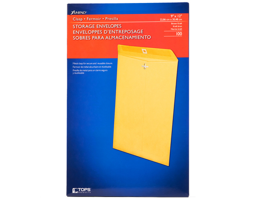Ampad Storage Envelopes, 100ct