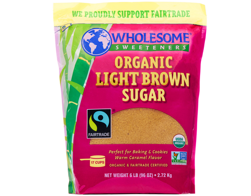 6lbs Wholesome! Organic Light Brown Sugar