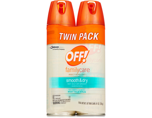 Off! Smooth & Dry Insect Repellant, 2 X 4oz Cans, 8oz