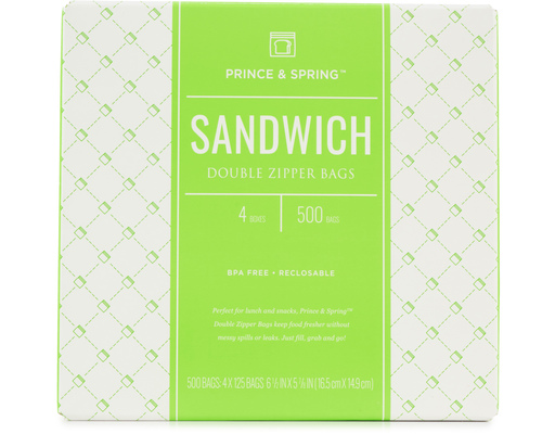 Sandwich Bags, 500ct By Prince & Spring