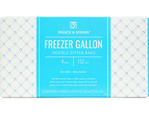 Zipper Freezer Bags, 152ct By Prince & Spring