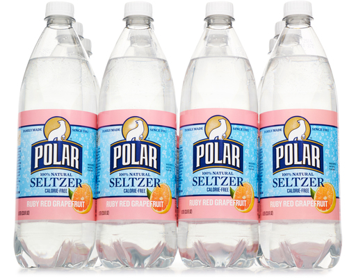 Polar 100% Natural Seltzer, 12 X 1 Liter Bottles, Grapefruit