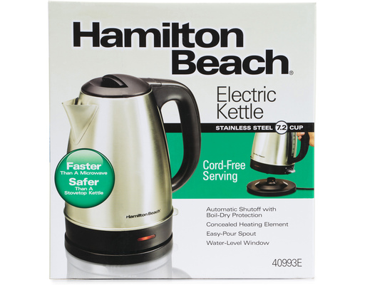 Hamilton Beach Electric Kettle, 1ct