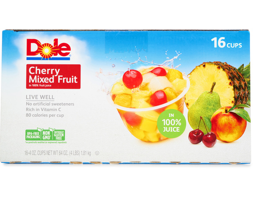 Dole Cherry Mixed Fruit, 16ct