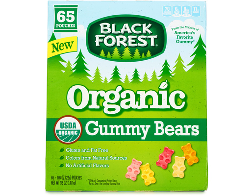 Black Forest Organic Gummy Bears, 65ct