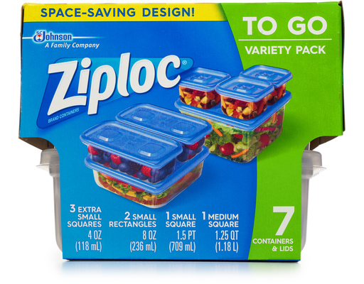 Ziploc To Go Containers, 7ct