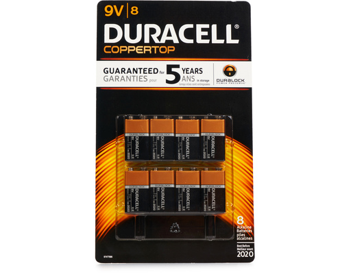 9v Batteries, 8ct