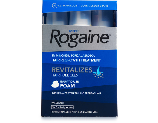 Rogaine Mens Hair Regrowth Treatment, 3ct