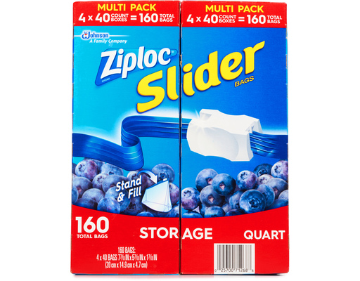 Ziploc Slider Storage Bags, 160ct