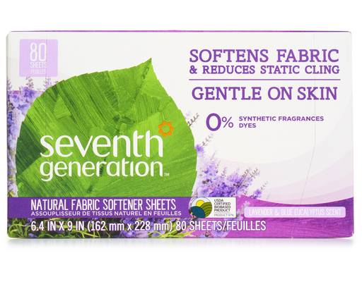 Seventh Generation Fabric Softener Sheets, 3 Packs Of 80 Sheets, 240ct