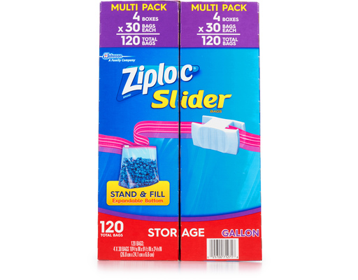 Ziploc Slider Storage Bags, 120ct