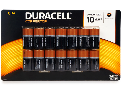 Duracell C Batteries, 14ct