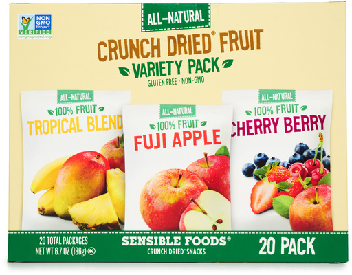 Sensible Foods Crunch Dried Fruit, 20ct