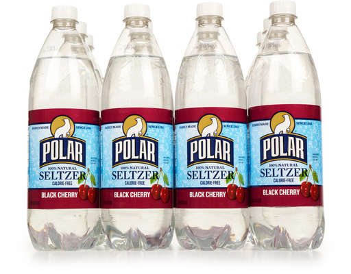 Polar 100% Natural Seltzer, 12 X 1 Liter Bottles, Black Cherry
