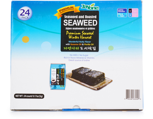 Jayone Seasoned + Roasted Seaweed, 24ct