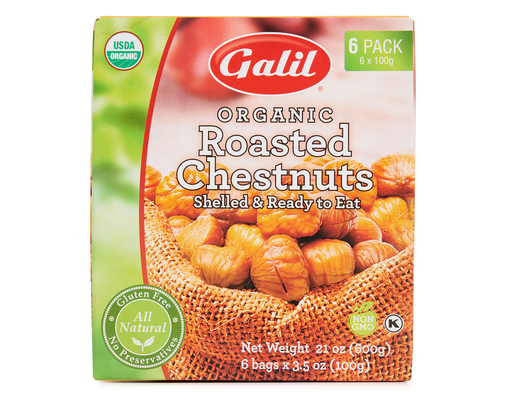 Galil Organic Roasted Chestnuts