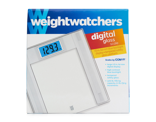 Weight Watchers Digital Glass Scale, 1ct