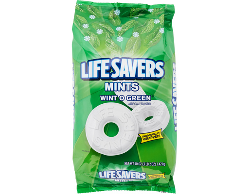 Life Savers Mints, 50oz Bag, Wint-o-green Flavor