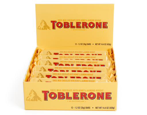 Toblerone Swiss Milk Chocolate Bars