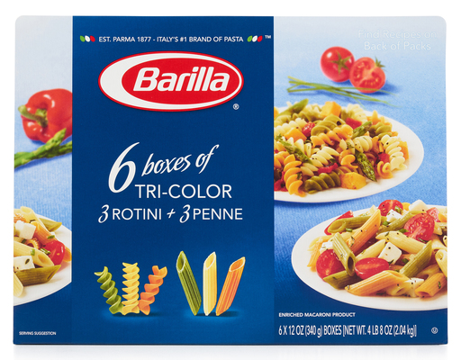 Barilla Tri-color Rotini + Penne, 6ct