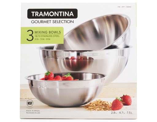 Pro Line Mixing Bowls, 3ct