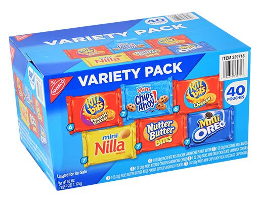 Nabisco® Oreo crisp is a healthy snacks and comes in a bag that weighs oz. cal Oreo crisp is sold as 6 bags per box.