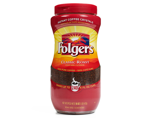 Folgers Instant Coffee 16 oz. - Classic Roast | Boxed