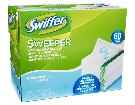 Boxed Com Swiffer Sweeper 60 Sheets Wet Mopping Refills