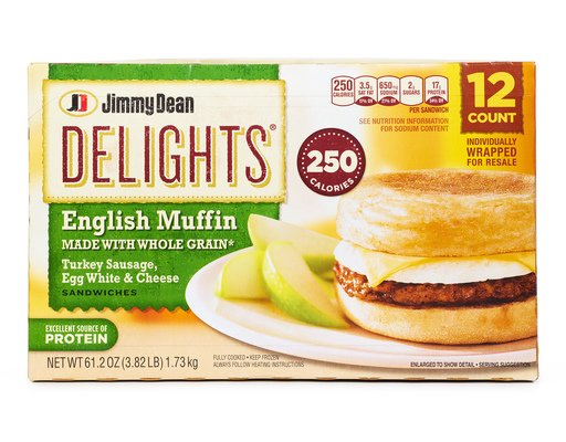 Jimmy Dean Delights English Muffins 12 Sandwiches Boxed