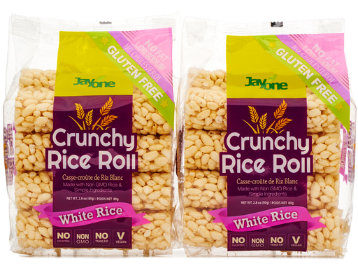 Jayone Crunchy Rice Roll 4 x 2.8 oz. - White Rice | Boxed