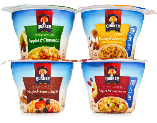 Quaker Instant Oatmeal Cups 12 X 1 69 Oz Variety Pack