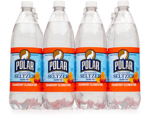 Polar 100 Natural Seltzer 12 X 1l Cranberry