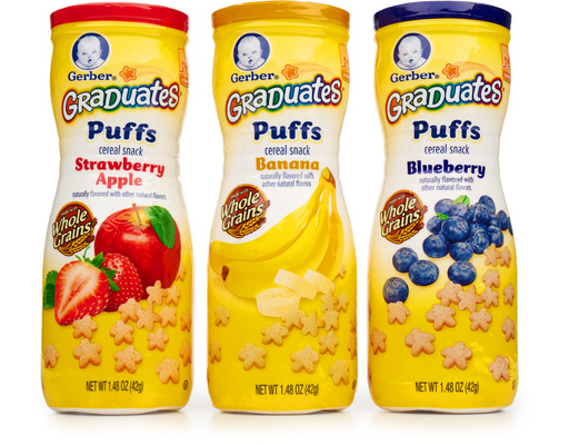 Gerber Puffs Cereal Snack 8 X 1 48 Oz Variety Pack Boxed