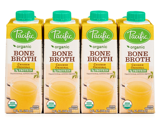 Pacific Foods Organic Chicken Bone Broth 12 X 8 Oz Boxed